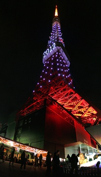 Tokyo Tower on New Year's Eve, 2012