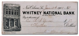 A cheque from 1905