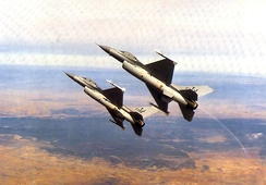 General Dynamics F-16A Block 15H Fighting Falcons of the 615th Tactical Fighter Squadron / 401st TFW Torrejon Air Base, Spain