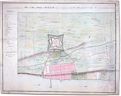 Plan of Detroit and its fort, 1792