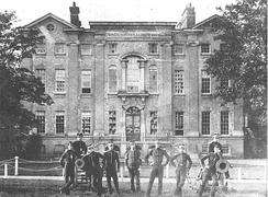 Addiscombe Seminary, photographed in c.1859, with cadets in the foreground