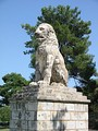 The Lion of Amphipolis, erected in 4th BC in honour of Laomedon of Mytilene, admiral of Alexander the Great