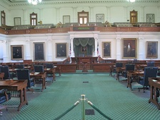 Inside view of the Texas Senate