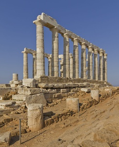 Temple of Poseidon at Cape Sounion, built c. 440 BC.