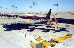 Flightline at Carswell AFB in the 1980s