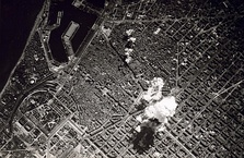 Left: Spanish Revolution of 1936. Right: Bombing of Barcelona (1938)