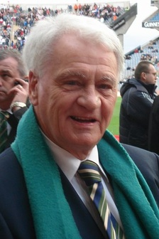 Sir Bobby Robson at the Republic of Ireland versus Slovakia match in Croke Park, Dublin on 29 March 2007