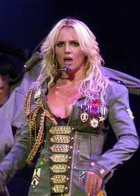 "Spears performing ""Boys"" at The Circus Starring Britney Spears on March 5, 2009"