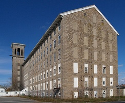 Chace Mills, built 1871 from native Fall River granite