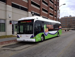Charm City Circulator Van Hool A330 #1101 on the Orange Line