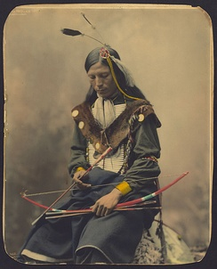 Chief Bone Necklace, an Oglala Lakota from the Pine Ridge Indian Reservation (1899)