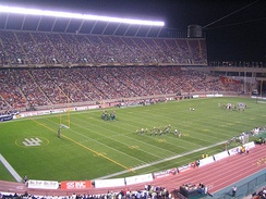 Edmonton's Commonwealth Stadium, in 2005. A Canadian Football League venue.