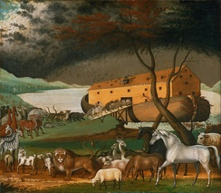 Noah's Ark (1846), by the American folk painter Edward Hicks.