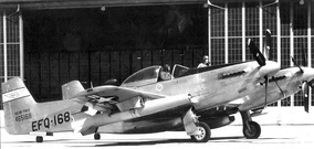 "EF-82B Twin Mustang 1-NA 44-65168 ""Betty Jo"" with the National Advisory Committee for Aeronautics (NACA), Cleveland, Ohio, 1952.[N 1]"