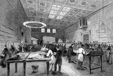 The Inland Letter Office of the London GPO in 1845.