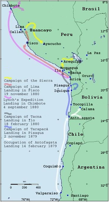 Almost all Chilean military operations began with a landing. The exceptions were the operations in the Sierra.