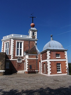 Royal Observatory with the time ball atop the Octagon Room