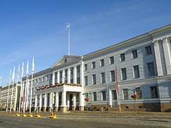 The Helsinki City Hall houses the City Council of Helsinki