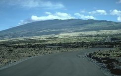 Hualalai is a massive shield volcano in the Hawaiian–Emperor seamount chain. Its last eruption was in 1801.