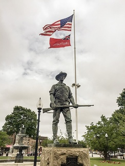 "The ""Hiker"" Statue on Taunton Green"