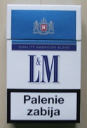 Different packs of L&M cigarettes