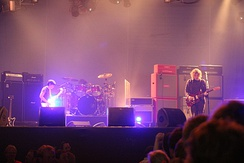 Kevin Shields of My Bloody Valentine (pictured 2008) was directly influenced by Smile for the band's experiments with fragmentary song composition.[363]