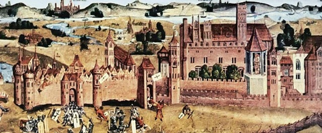 Malbork Castle during Thirteen Years' War (1460)