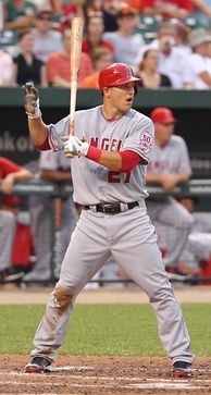 Trout with the Angels in 2011