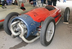 The 1935 Monaco-Trossi race car, a rare example of automobile use.[16]