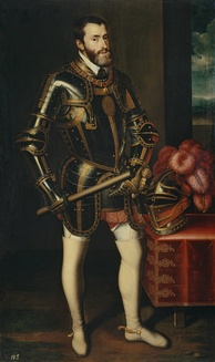 Charles V with Armor by Juan Pantoja de la Cruz (1605), copying Titian