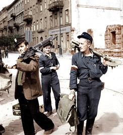 The Warsaw uprising took place in 1944. The Polish Home Army attempted to liberate Warsaw from German occupation before the arrival of the Red Army.[50]