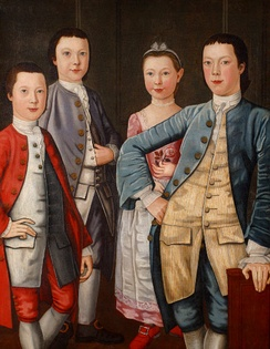 The Rapalje Children, John Durand, 1768. Collection of the New-York Historical Society