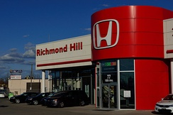 A Honda dealership in Ontario, Canada