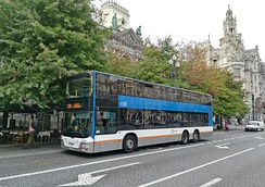Double-deck bus in Porto, Portugal
