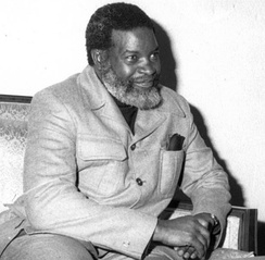 Sam Nujoma, founder and leader of SWAPO and its OPO predecessor.