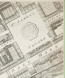 The location of Norfolk House is shown on this 1799 map.