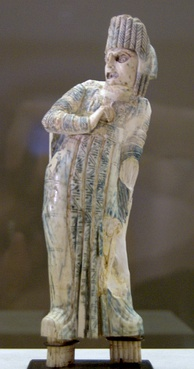 An ivory statuette of a Roman actor of tragedy, 1st century CE.