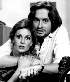 Douglas in 1969 with Tisha Sterling in the CBS Playhouse production, The Experiment, Douglas's first television role[10]