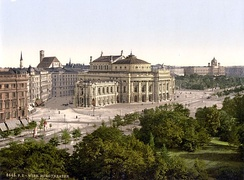 Color photo lithograph of Vienna, 1900