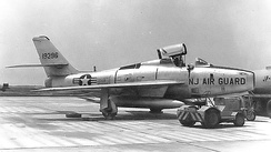 141st TFS F-84F Thunderstreak 51-9396 about 1960.