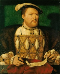 Henry VIII of England, known for his role in the separation of the Church of England from the Roman Catholic Church.