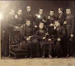 1864 departures of MEP missionaries. The four on the left would become martyrs in Korea.