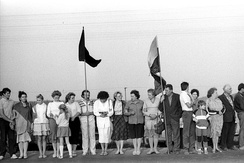 Baltic Way was a human chain of approximately two million people dedicated to liberating the Baltic Republics from the Soviet Union.