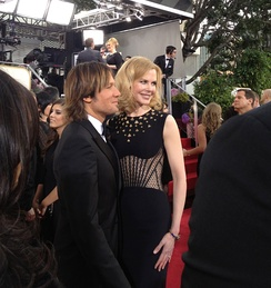 Urban with his wife Nicole Kidman at the 70th Golden Globe Awards in 2013