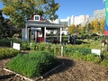 Parkdale's community garden shed - Parkdale Station - memorializes Calgary's historical connection to the railroad