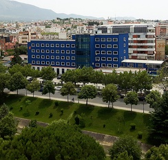 Building of the Albanian State Police Headquarters in Tiranë