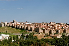 The city of Ávila is one of the places in Castile and León declared a World Heritage Site by UNESCO.