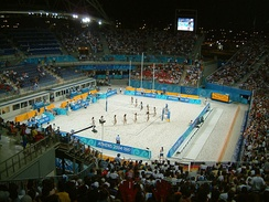 Faliro Olympic Beach Volleyball Centre hosting beach volleyball