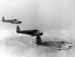Formation of Beechcraft AT-10s
