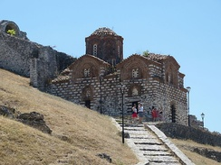 The Holy Trinity Church from the 13th century in Berat. Moreover, Byzantine architecture was also widely diffused throughout the country.